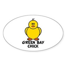 Green Bay Chick Oval Decal