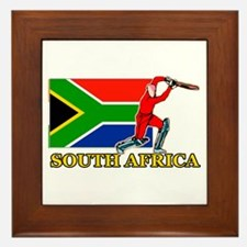 South Africa Cricket Player Framed Tile