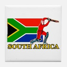 South Africa Cricket Player Tile Coaster