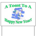 New Year's Toast Yard Sign