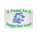 New Year's Toast Rectangle Magnet (10 pack)