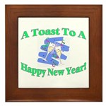 New Year's Toast Framed Tile