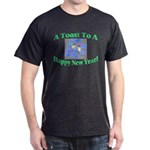 New Year's Toast Dark T-Shirt