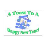 New Year's Toast Mini Poster Print