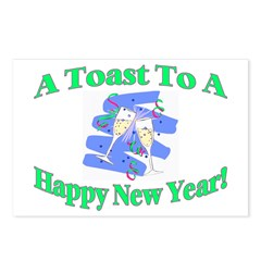 New Year's Toast Postcards (Package of 8)