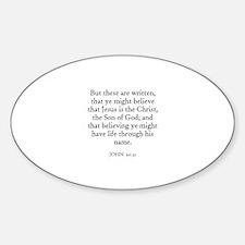 JOHN 20:31 Oval Decal