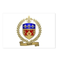 LANOUE Family Crest Postcards (Package of 8)