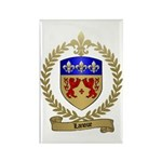 LANOUE Family Crest Rectangle Magnet
