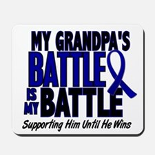 My Battle Too 1 BLUE (Grandpa) Mousepad