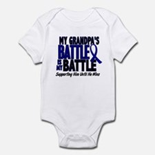 My Battle Too 1 BLUE (Grandpa) Infant Bodysuit