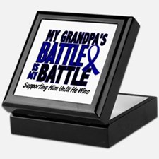 My Battle Too 1 BLUE (Grandpa) Keepsake Box