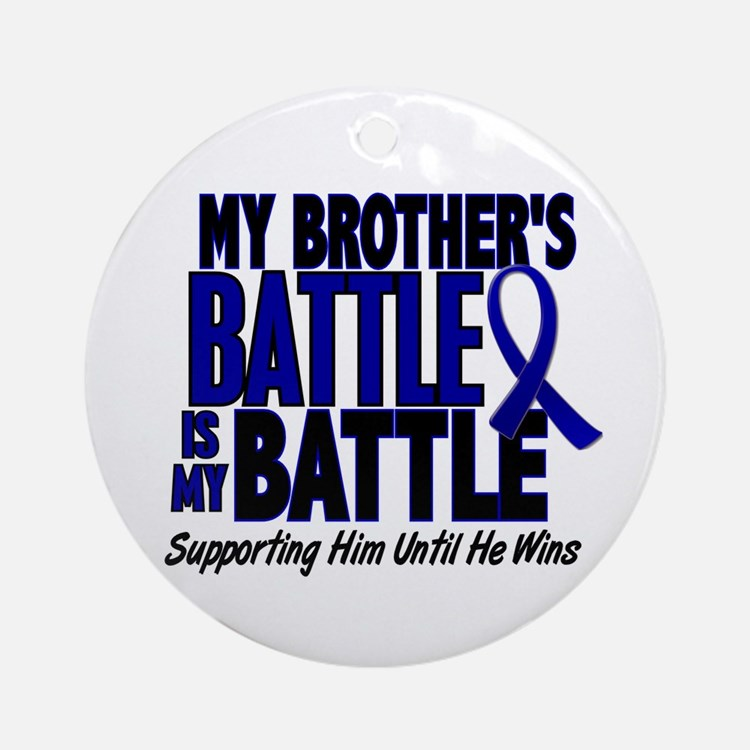 My Battle Too 1 BLUE (Brother) Ornament (Round)