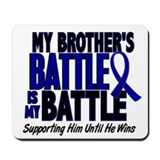 My Battle Too 1 BLUE (Brother) Mousepad