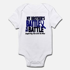 My Battle Too 1 BLUE (Brother) Infant Bodysuit
