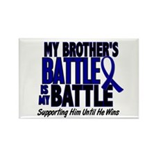 My Battle Too 1 BLUE (Brother) Rectangle Magnet (1