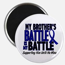 """My Battle Too 1 BLUE (Brother) 2.25"""" Magnet (10 pa"""