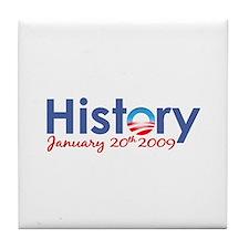 Obama History Inauguration 2009 Tile Coaster