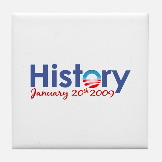 Obama History Inauguration 2009 Tile Coaster