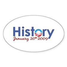 Obama History Inauguration 2009 Oval Decal