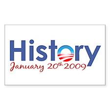 Obama History Inauguration 2009 Decal