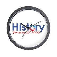 Obama History Inauguration 2009 Wall Clock