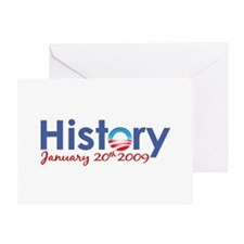 Obama History Inauguration 2009 Greeting Card