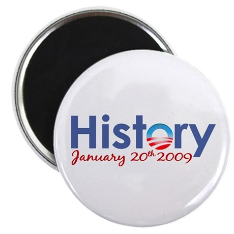 "Obama History Inauguration 2009 2.25"" Magnet (100"