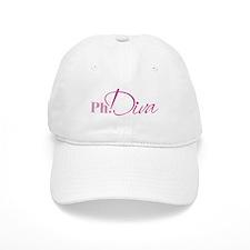 PhDiva Baseball Baseball Cap (white)