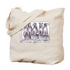 Cute Scottish deerhounds Tote Bag