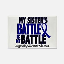 My Battle Too 1 BLUE (Sister) Rectangle Magnet