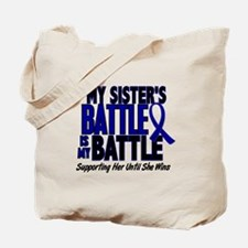 My Battle Too 1 BLUE (Sister) Tote Bag
