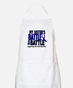 My Battle Too 1 BLUE (Sister) BBQ Apron