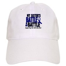 My Battle Too 1 BLUE (Sister) Baseball Cap