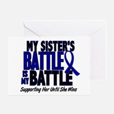 My Battle Too 1 BLUE (Sister) Greeting Card
