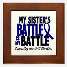 My Battle Too 1 BLUE (Sister) Framed Tile