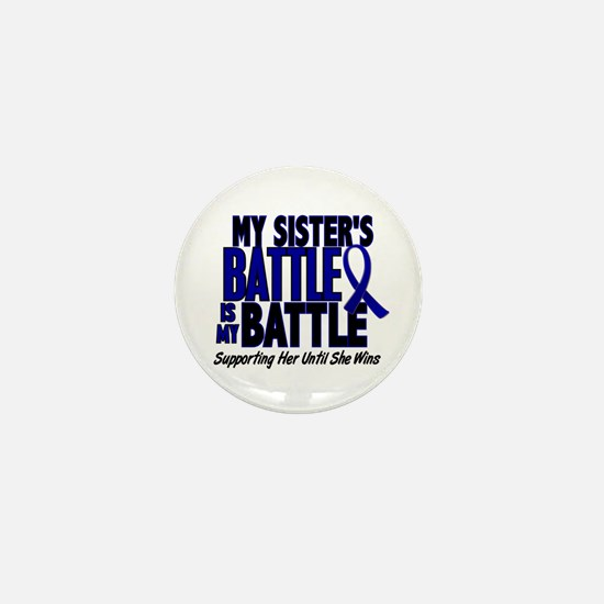 My Battle Too 1 BLUE (Sister) Mini Button (10 pack
