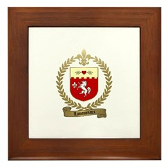 LAMOUREUX Family Crest Framed Tile