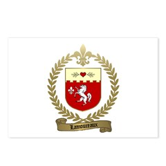 LAMOUREUX Family Crest Postcards (Package of 8)