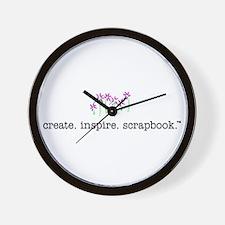 create. inspire. scrapbook. - Wall Clock