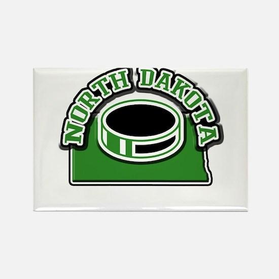North Dakota Hockey Rectangle Magnet