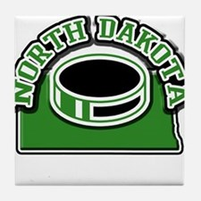 North Dakota Hockey Tile Coaster