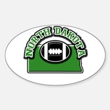 North Dakota Football Oval Decal