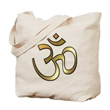 Golden Aum Tote Bag
