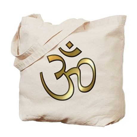 Golden Aum Tote Bag