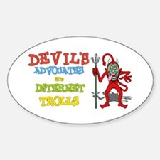 Devils Advocates Oval Decal