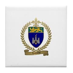 LAMOTHE Family Crest Tile Coaster