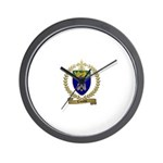 LAMOTHE Family Crest Wall Clock