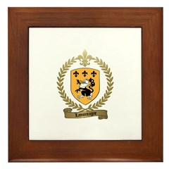 LAMONTAGNE Family Crest Framed Tile