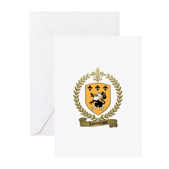 LAMONTAGNE Family Crest Greeting Cards (Package of