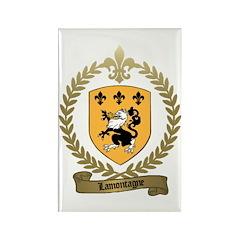 LAMONTAGNE Family Crest Rectangle Magnet (100 pack